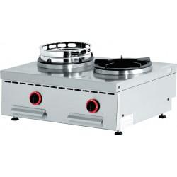 Feux wok à gaz 2 feux