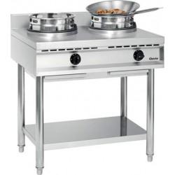 Cuisinière wok à gaz 2 feux