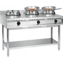 Cuisinière wok à gaz 3 feux