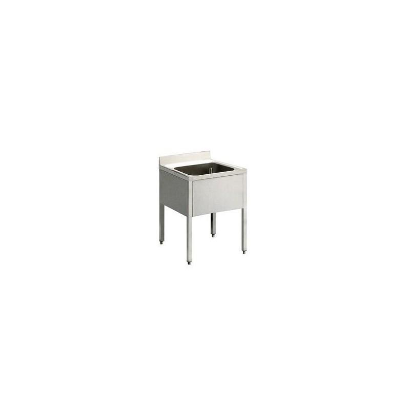 plonge inox pas cher avec 1 bac de 600x600 mm. Black Bedroom Furniture Sets. Home Design Ideas