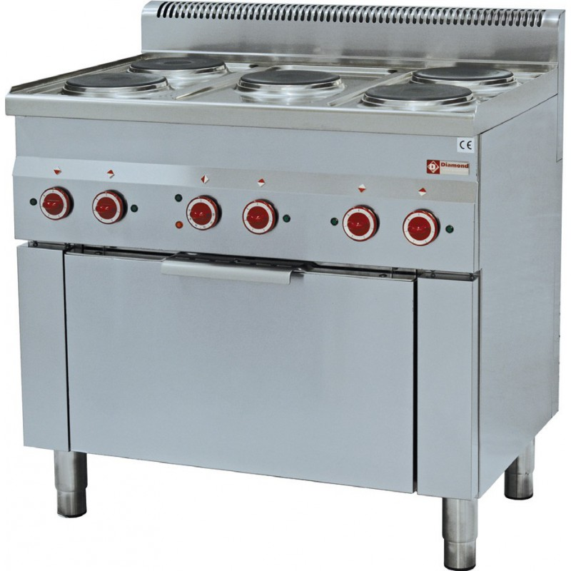 fourneau de cuisine profesionnel lectrique diamond e60