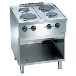Fourneau professionnel de cuisine 900x600xh850/970 mm