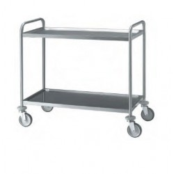 Chariot inox 2 plateaux 100 cm