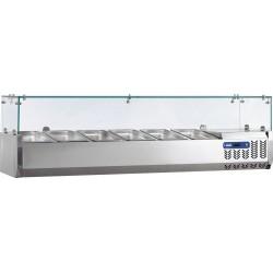 Vitrine Réfrigérée de 120 cm pour 5 bacs GN 1/4 - Diamond SX120/DV