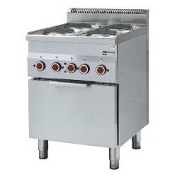 Fourneau professionnel de cuisine 600x600xh850/970 mm
